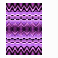 Purple Pink Zig Zag Pattern Small Garden Flag (two Sides)