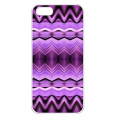 Purple Pink Zig Zag Pattern Apple Iphone 5 Seamless Case (white) by BangZart