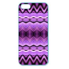 Purple Pink Zig Zag Pattern Apple Seamless Iphone 5 Case (color)