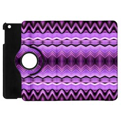 Purple Pink Zig Zag Pattern Apple Ipad Mini Flip 360 Case