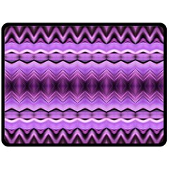 Purple Pink Zig Zag Pattern Double Sided Fleece Blanket (large)  by BangZart