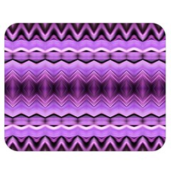 Purple Pink Zig Zag Pattern Double Sided Flano Blanket (medium)