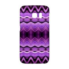Purple Pink Zig Zag Pattern Galaxy S6 Edge