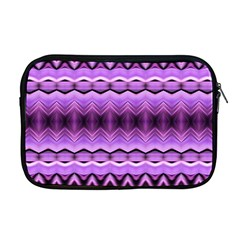 Purple Pink Zig Zag Pattern Apple Macbook Pro 17  Zipper Case