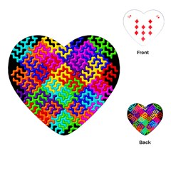 3d Fsm Tessellation Pattern Playing Cards (heart)