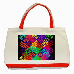 3d Fsm Tessellation Pattern Classic Tote Bag (red) by BangZart