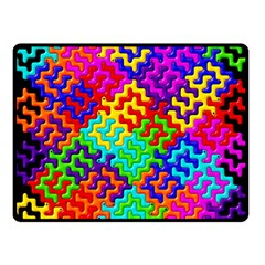3d Fsm Tessellation Pattern Fleece Blanket (small)