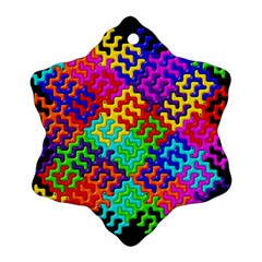 3d Fsm Tessellation Pattern Ornament (snowflake)