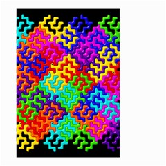 3d Fsm Tessellation Pattern Small Garden Flag (two Sides)