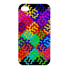 3d Fsm Tessellation Pattern Apple Iphone 4/4s Premium Hardshell Case by BangZart