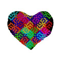 3d Fsm Tessellation Pattern Standard 16  Premium Heart Shape Cushions