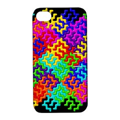 3d Fsm Tessellation Pattern Apple Iphone 4/4s Hardshell Case With Stand