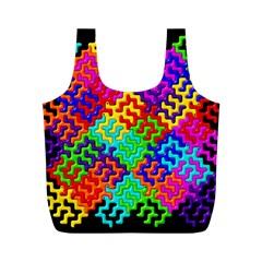 3d Fsm Tessellation Pattern Full Print Recycle Bags (m)