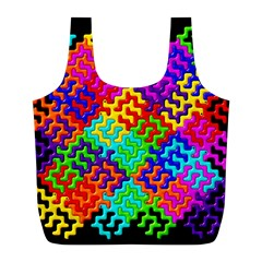3d Fsm Tessellation Pattern Full Print Recycle Bags (l)  by BangZart