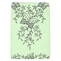 Illustration Of Butterflies And Flowers Ornament On Green Background Flap Covers (s)  by BangZart