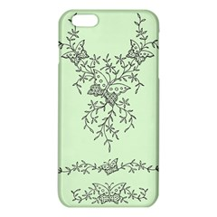 Illustration Of Butterflies And Flowers Ornament On Green Background Iphone 6 Plus/6s Plus Tpu Case by BangZart