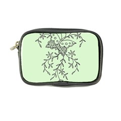 Illustration Of Butterflies And Flowers Ornament On Green Background Coin Purse
