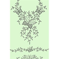 Illustration Of Butterflies And Flowers Ornament On Green Background 5 5  X 8 5  Notebooks by BangZart