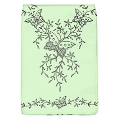 Illustration Of Butterflies And Flowers Ornament On Green Background Flap Covers (l)  by BangZart