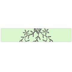 Illustration Of Butterflies And Flowers Ornament On Green Background Flano Scarf (large) by BangZart