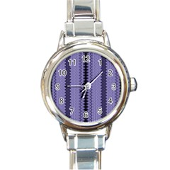 Zig Zag Repeat Pattern Round Italian Charm Watch