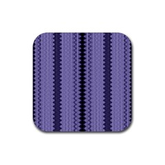 Zig Zag Repeat Pattern Rubber Square Coaster (4 Pack)