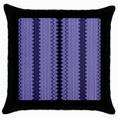 Zig Zag Repeat Pattern Throw Pillow Case (black) by BangZart