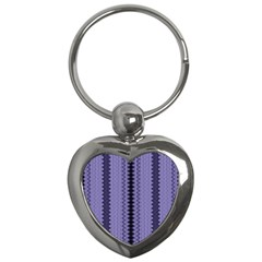 Zig Zag Repeat Pattern Key Chains (heart)  by BangZart