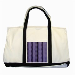 Zig Zag Repeat Pattern Two Tone Tote Bag by BangZart
