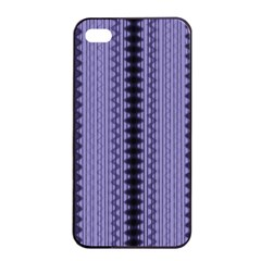 Zig Zag Repeat Pattern Apple Iphone 4/4s Seamless Case (black) by BangZart