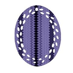 Zig Zag Repeat Pattern Ornament (oval Filigree) by BangZart