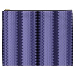 Zig Zag Repeat Pattern Cosmetic Bag (xxxl)