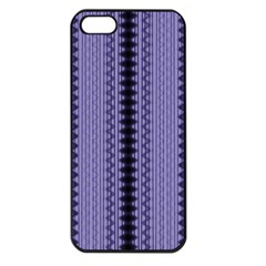 Zig Zag Repeat Pattern Apple Iphone 5 Seamless Case (black) by BangZart
