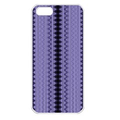 Zig Zag Repeat Pattern Apple Iphone 5 Seamless Case (white) by BangZart