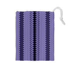 Zig Zag Repeat Pattern Drawstring Pouches (large)