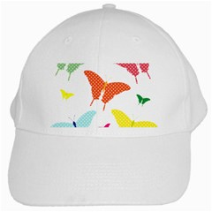 Beautiful Colorful Polka Dot Butterflies Clipart White Cap by BangZart