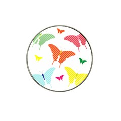 Beautiful Colorful Polka Dot Butterflies Clipart Hat Clip Ball Marker (10 Pack)