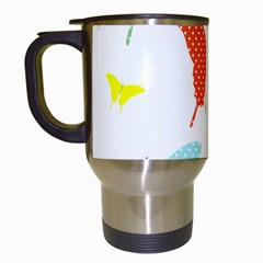 Beautiful Colorful Polka Dot Butterflies Clipart Travel Mugs (white)