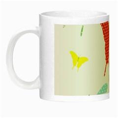 Beautiful Colorful Polka Dot Butterflies Clipart Night Luminous Mugs