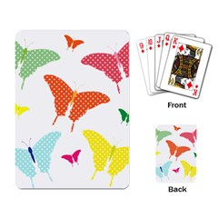 Beautiful Colorful Polka Dot Butterflies Clipart Playing Card by BangZart