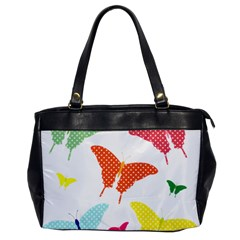 Beautiful Colorful Polka Dot Butterflies Clipart Office Handbags by BangZart