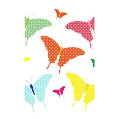 Beautiful Colorful Polka Dot Butterflies Clipart Shower Curtain 48  X 72  (small)