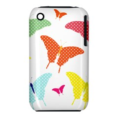 Beautiful Colorful Polka Dot Butterflies Clipart Iphone 3s/3gs by BangZart