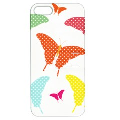 Beautiful Colorful Polka Dot Butterflies Clipart Apple Iphone 5 Hardshell Case With Stand