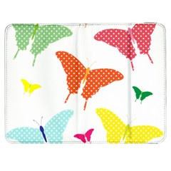 Beautiful Colorful Polka Dot Butterflies Clipart Samsung Galaxy Tab 7  P1000 Flip Case