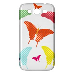 Beautiful Colorful Polka Dot Butterflies Clipart Samsung Galaxy Mega 5 8 I9152 Hardshell Case  by BangZart