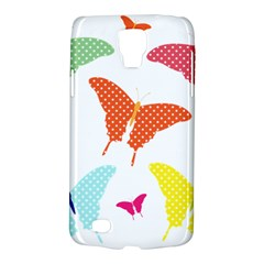 Beautiful Colorful Polka Dot Butterflies Clipart Galaxy S4 Active