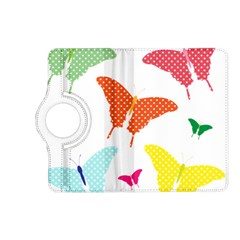 Beautiful Colorful Polka Dot Butterflies Clipart Kindle Fire Hd (2013) Flip 360 Case by BangZart