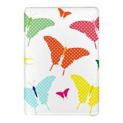 Beautiful Colorful Polka Dot Butterflies Clipart Samsung Galaxy Tab Pro 10 1 Hardshell Case by BangZart