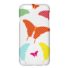 Beautiful Colorful Polka Dot Butterflies Clipart Apple Iphone 6 Plus/6s Plus Hardshell Case by BangZart